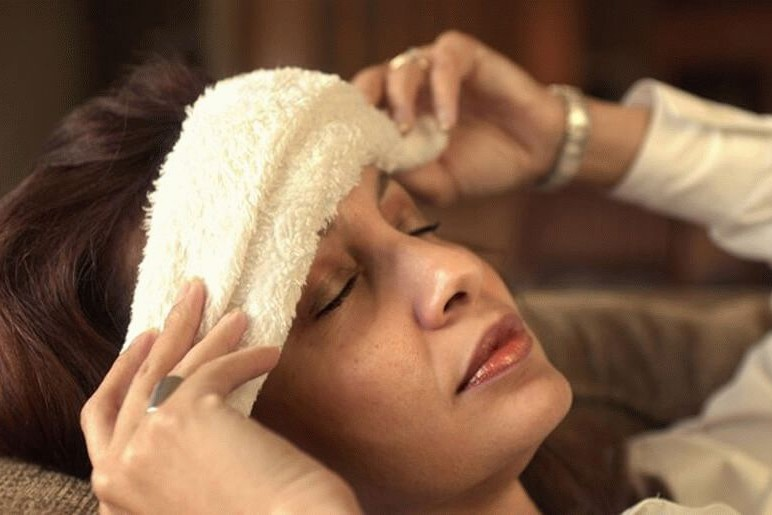 Уксусный компресс на лоб