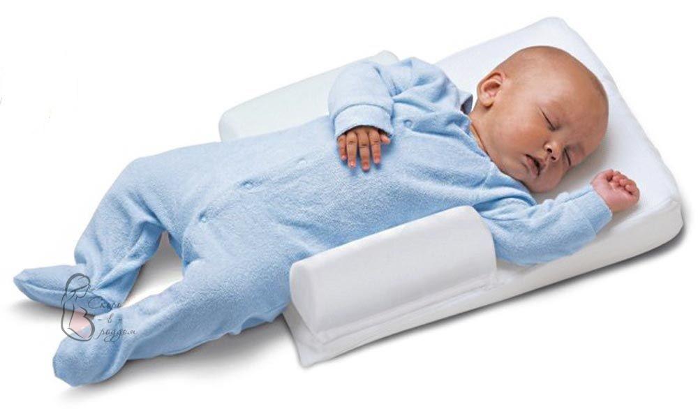 Его использование позволяет сохранить правильную позу ребенка во время отдыха и исключить переворачивание на спину.
