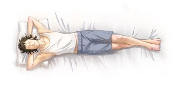 Позы для сна подходит тем людям, бессонница которых вызвана желанием заснуть как можно раньше.