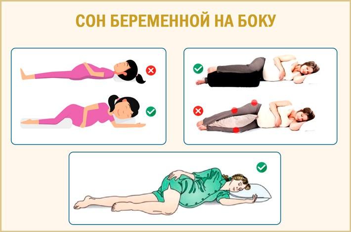 Врачи советуют привыкать спать на боку с самого начала беременности, так как это наиболее комфортная поза со второго триместра до самого момента родоразрешения
